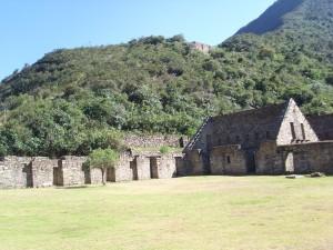 De Inca stad Choquequirao bij aankomst Choquequirao Trail