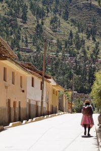 Typische Inca vrouw in de Heilige Vallei