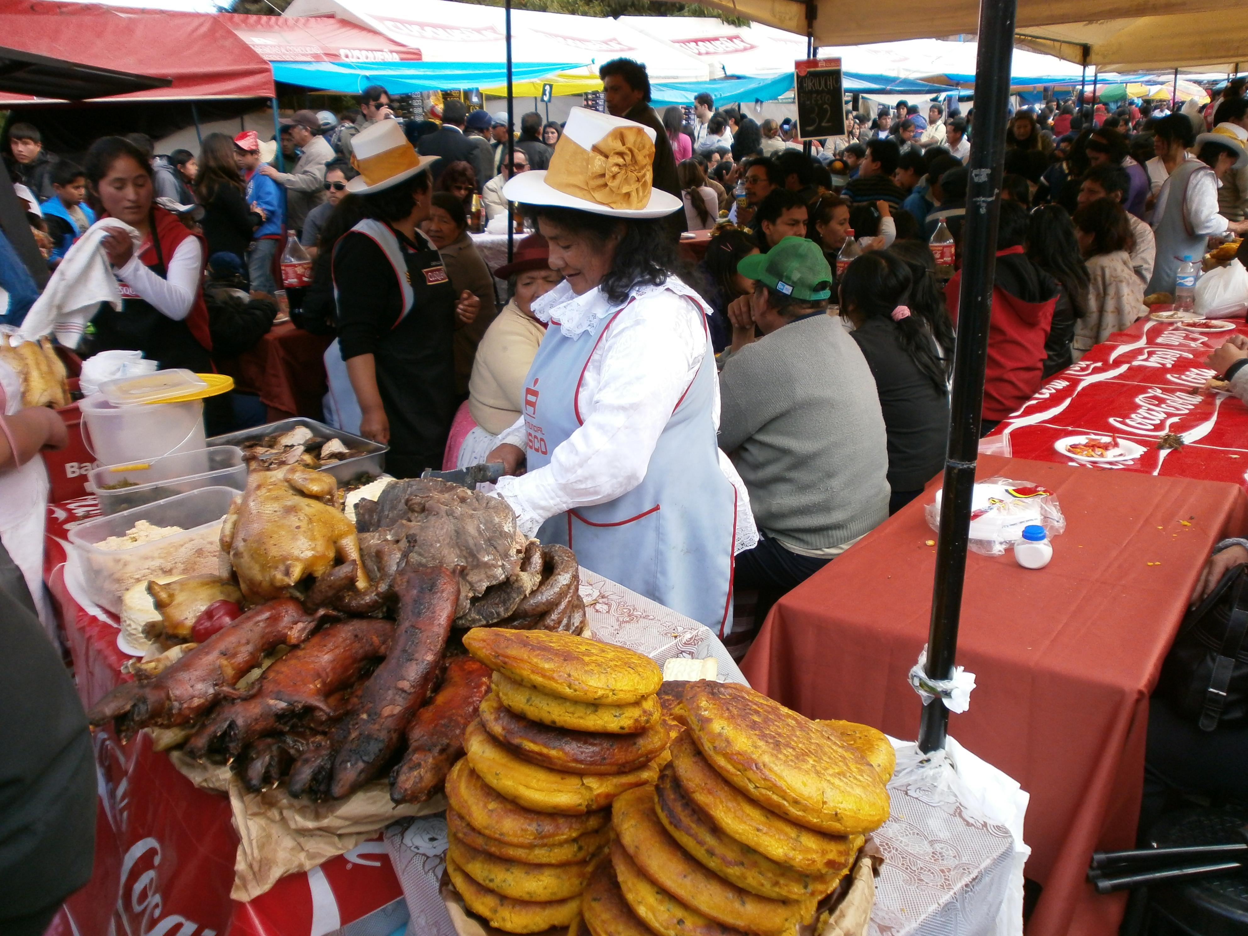 Cuy op de lokale markt