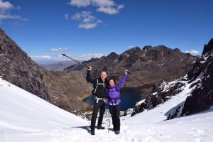Lares Trail met sneeuw