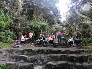 De laatste trappen naar Machu Picchu