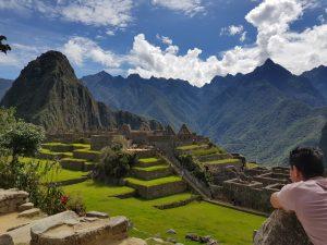 Wandelen door Machu Picchu
