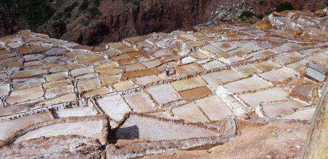 De zoutterrassen in de Heilige Vallei
